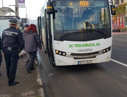 POLIȚIA LOCALĂ PIATRA NEAMȚ: Acțiune pentru menținerea unui climat civic de ordine și liniște în mijloacele de transport în comun