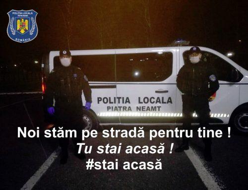 POLIȚIA LOCALĂ PIATRA NEAMȚ: Recomandări pentru prevenirea COVID 19