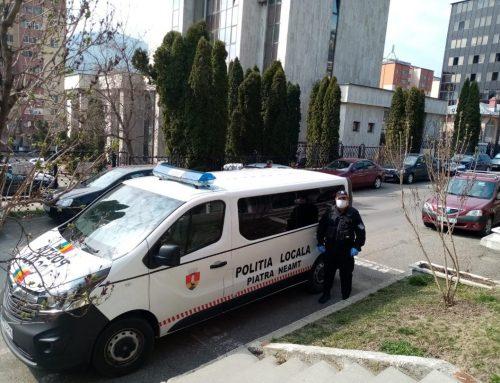 POLIȚIA LOCALĂ PIATRA NEAMȚ: Persoanele izolate la domiciliu, verificate dacă respectă restricțiile impuse de declanșarea stării de urgență