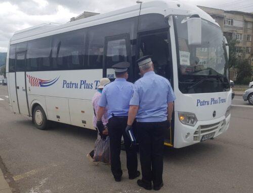 Poliția Locală Piatra Neamț: Acțiune de control pentru verificarea respectării purtării măștii de protecție în mijloacele de transport în comun