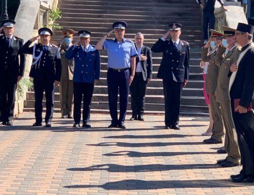 Poliția Locală Piatra Neamț: Festivitate dedicată Zilei Imnului Național